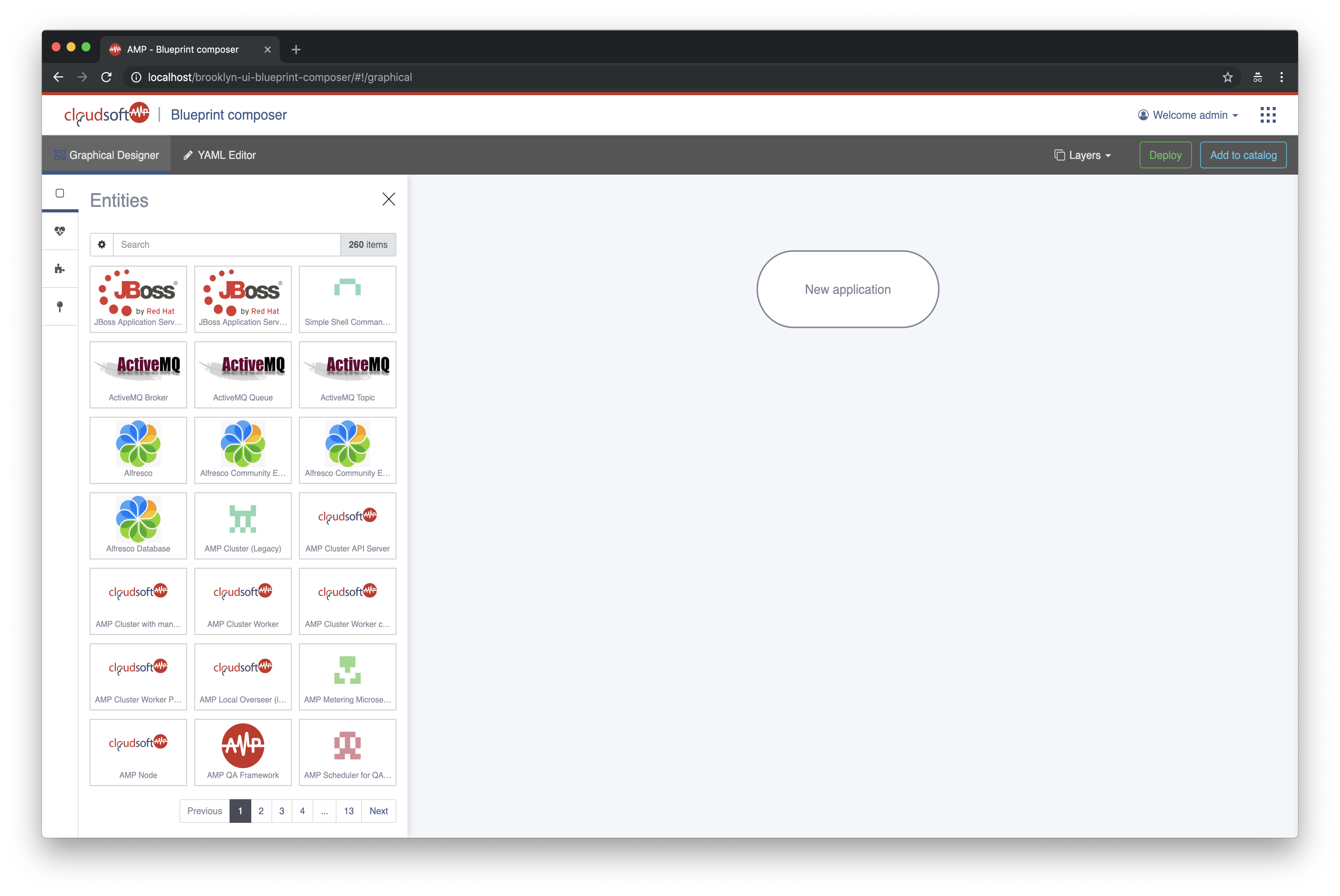 Compose a 3-tier Application (UI) - Cloudsoft AMP